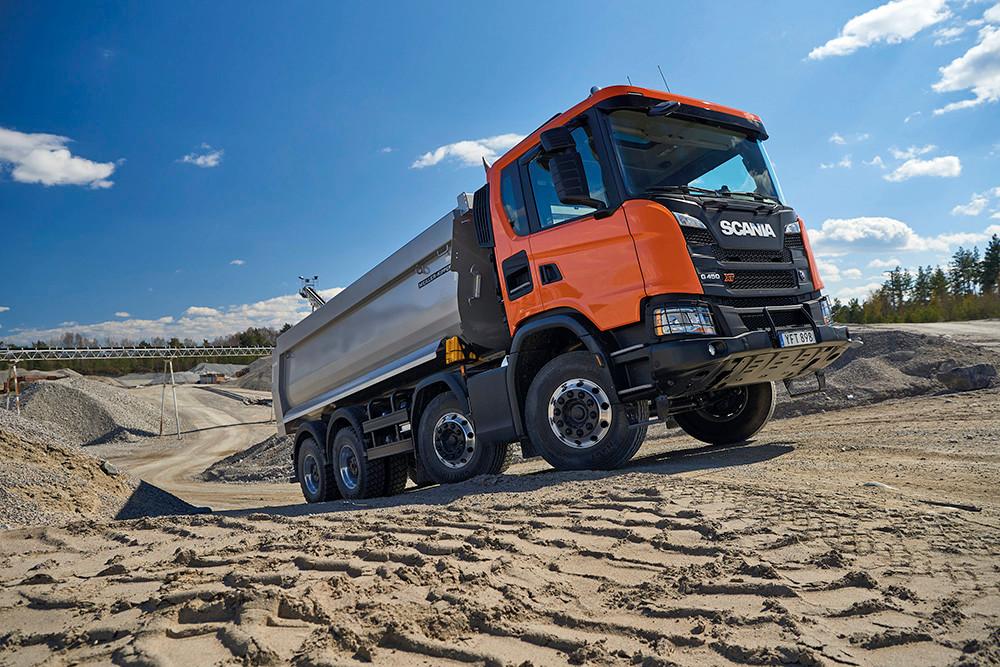 Scania auf der Baustelle - NUFAM