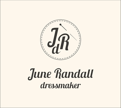june randall dressmaker corporate design logo
