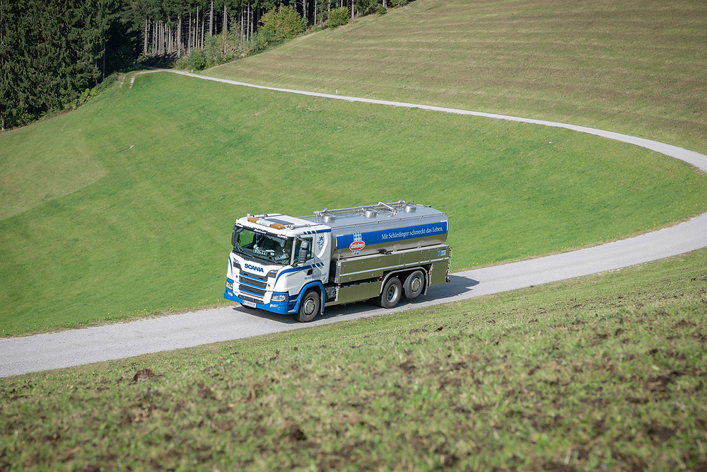 Scania Michael Hell Transporte Milchtransport