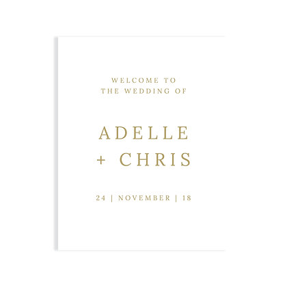 ADELLE - WELCOME SIGN