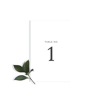 CLASSIC - TABLE NUMBER