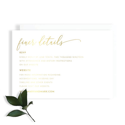 MARY - DETAILS CARD