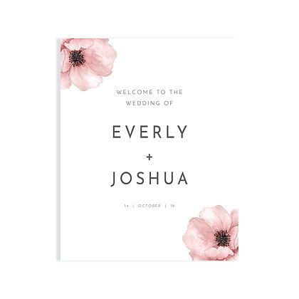 EVERLY - WELCOME SIGN