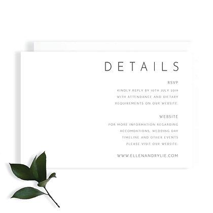 ELLEN - DETAILS CARD