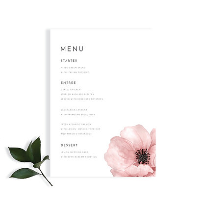 EVERLY - MENU