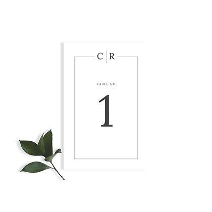 CAROLINE - TABLE NUMBER