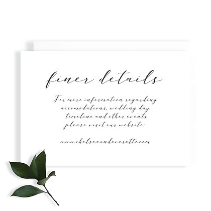 CHELSEA - DETAILS CARD