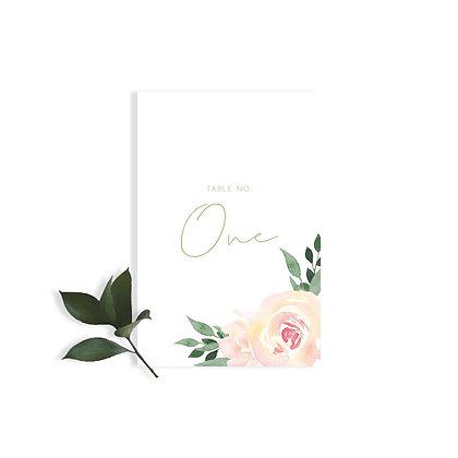 OLIVIA - TABLE NUMBER