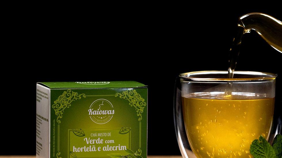 Cx de chá Verde (Hortelâ e Alecrim) com 10 saches