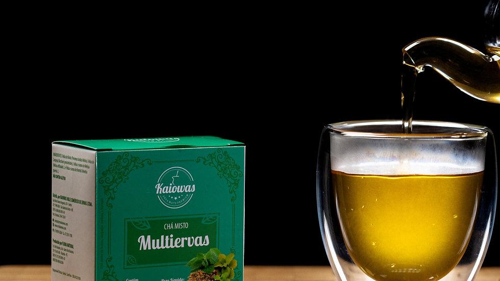 Cx de chá Multiervas (Boldo Carqueja, Melissa, Hortelã) com 10 saches