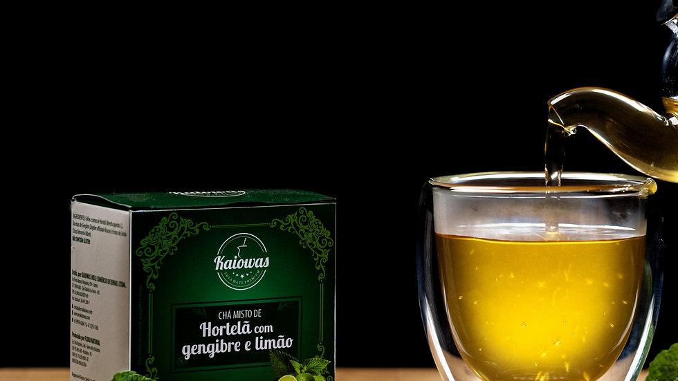 Cx de chá Hortelã Gengibre e Limão com 10 saches