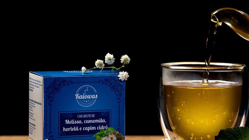 Cx de chá Melissa (Melissa Camomila ,Hortelã, capim Cidró)com 10 saches