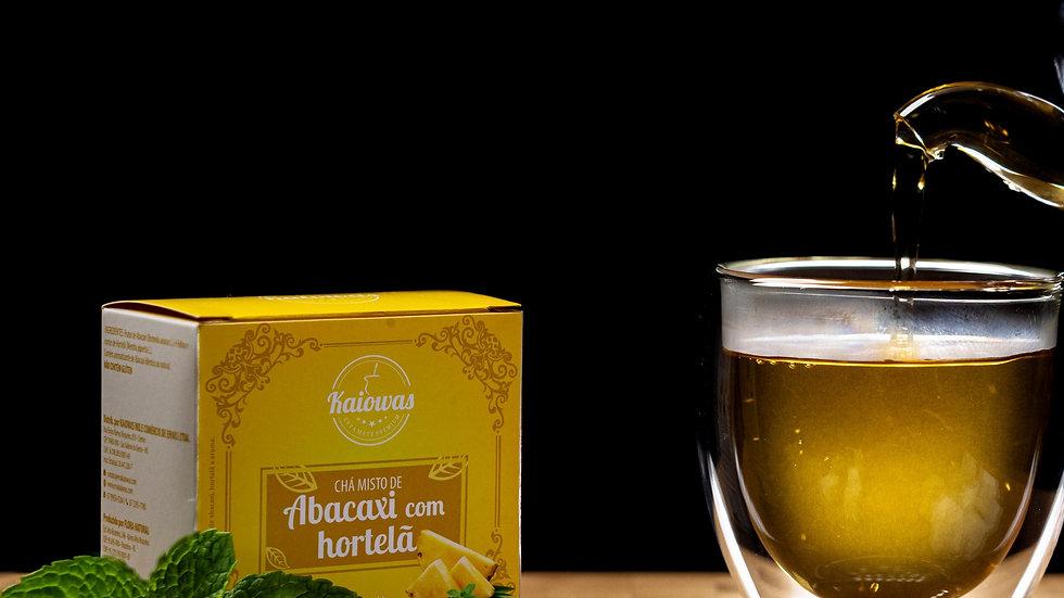 Cx de chá Abacaxi com Hortelã com 10 saches