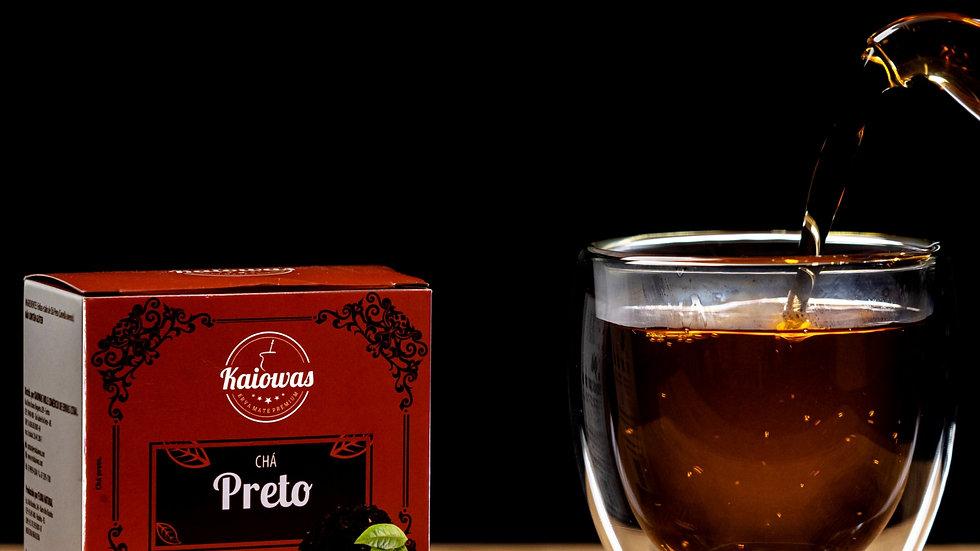 Cx de chá preto com 10 saches