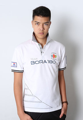 Twill Collar Polo - Bright White