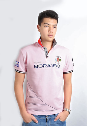 Twill Collar Polo - Orchid Pink