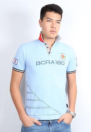 Twill Collar Polo - Placid Blue