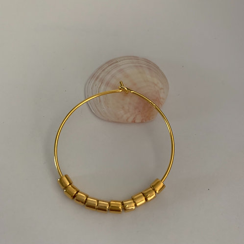 Creol earrings in gold-plated Sterling Silver (a pair) large