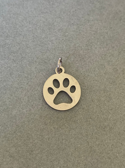 Paw charm in steel