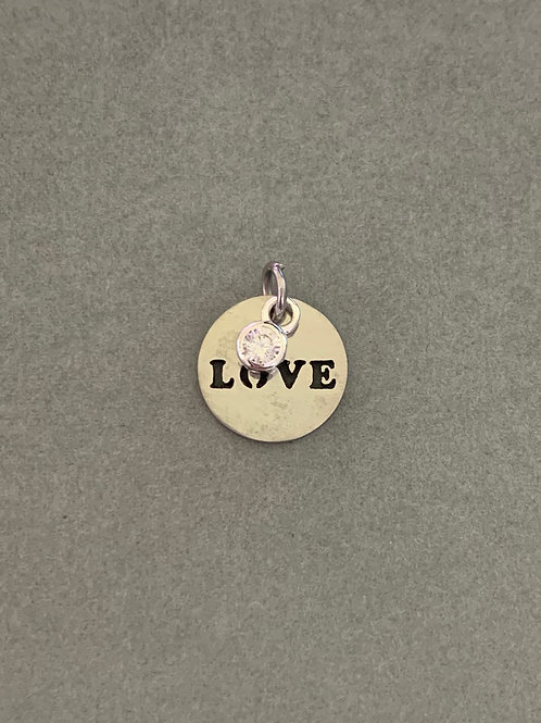 LOVE charm with crystal
