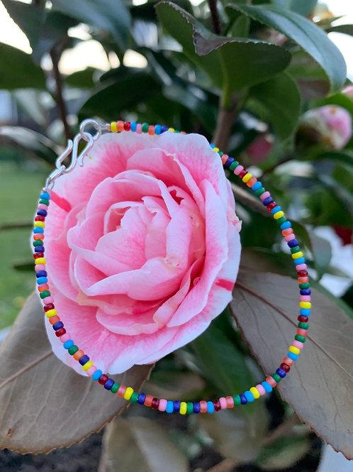 Multicolor Summer bracelet in silver