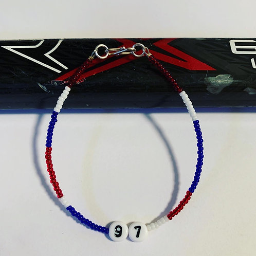 Sport's bracelet with player number