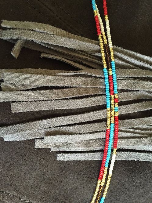 Indian inspired 3 string bracelet