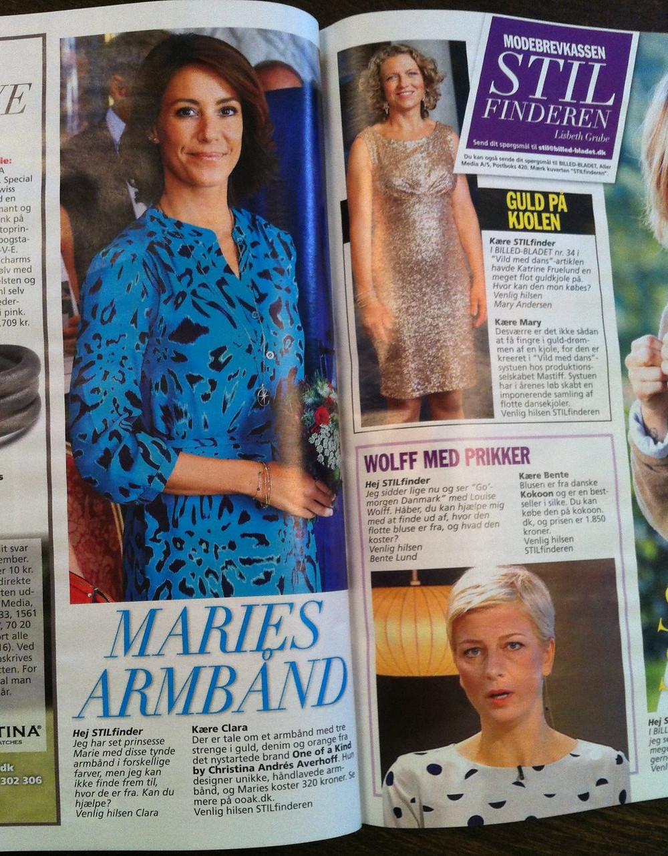 Maries armbånd i Billedbladet