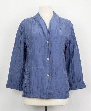 Citron Blue Crinkle Jacket