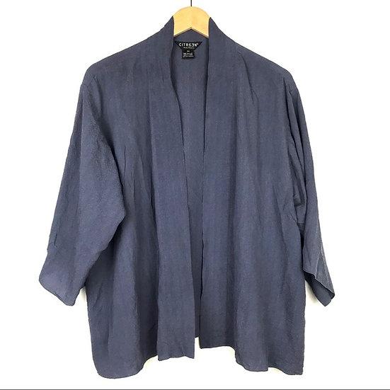 Silk Citron Kimono Top