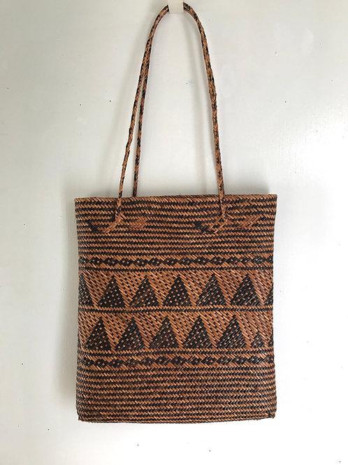 Woven Rattan Bag (Pyramid Design)
