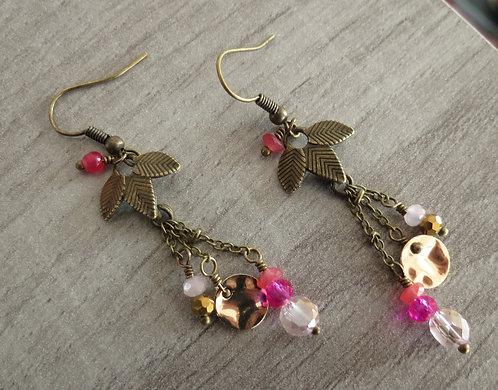 """Boucles d'oreilles """"Feuillage"""" Bronze, 3 coloris"""