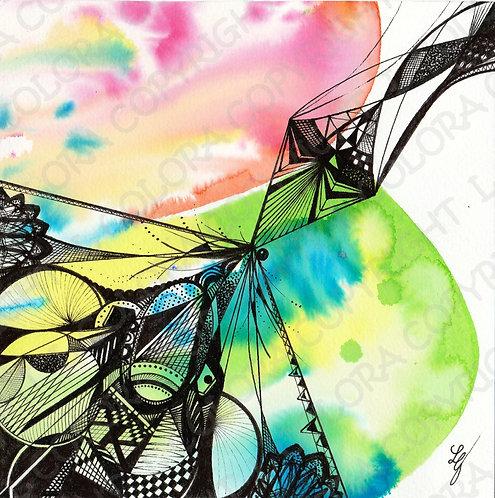S-PRIT - Aquarelle originale