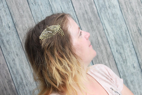 """Peigne à cheveux """"Bohème"""" papillon, ivoire"""