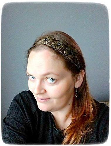 """Headband """"3 Fleurs"""", bronze, coloris au choix"""