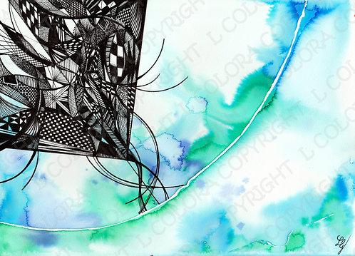 AIR - Aquarelle originale