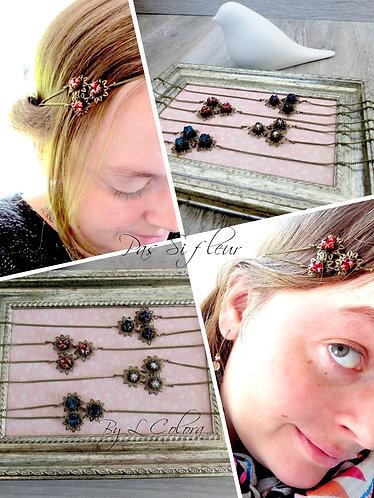 """Headband """"Pas Si Fleur""""bronze, coloris au choix"""