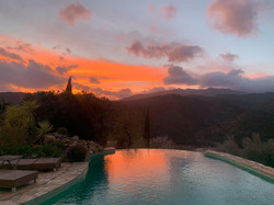 Evening sunsets.