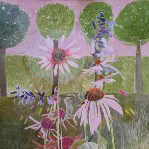 Garden with Coneflowers (Sold)