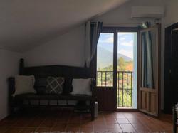 French balcony in master bedroom