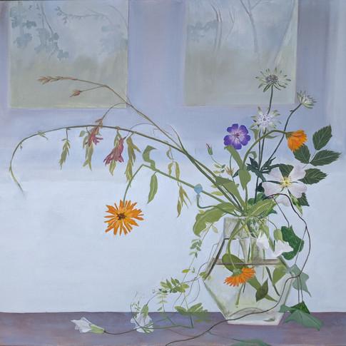 Wild Flowers by a Window