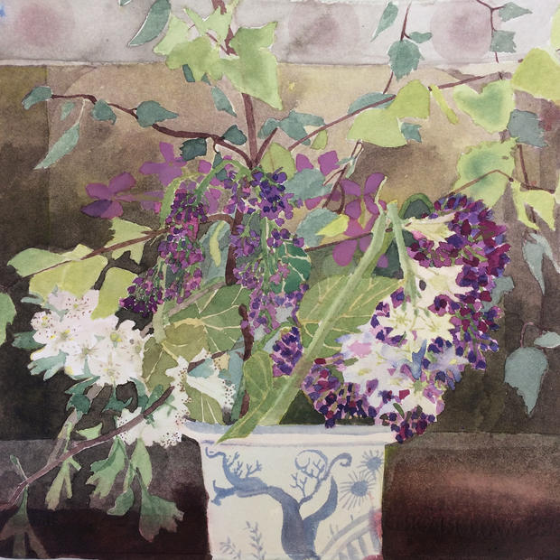 Spring Flowers with Lilac