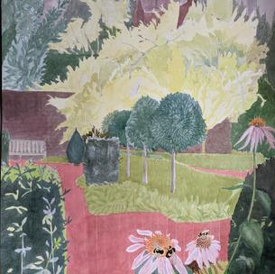 London Garden with Echinacea