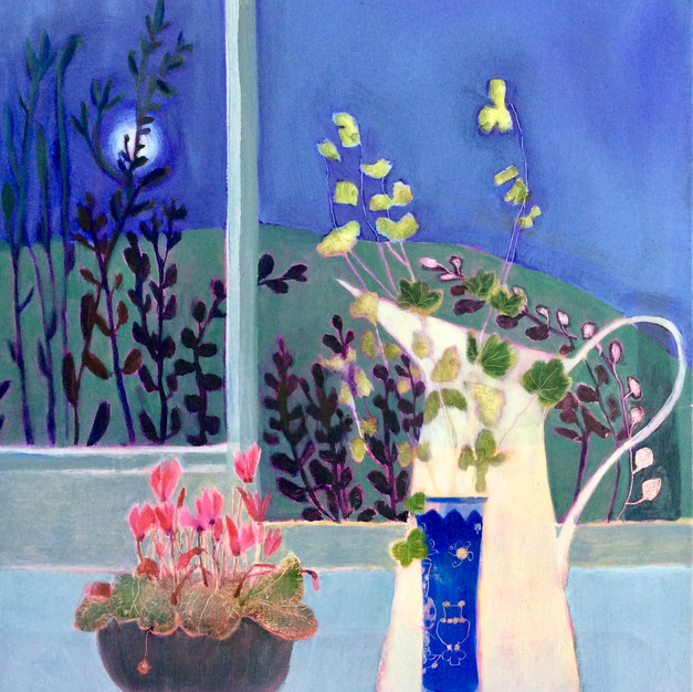 Still Life with Cyclamen (Sold)