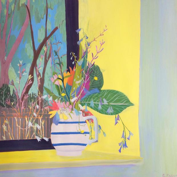 Wild Flowers by a Window (Sold)