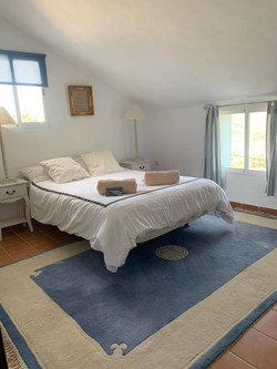 Guest bedroom with double bed.