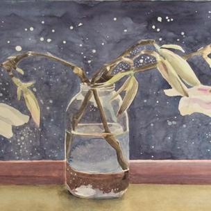 Magnolia on a sunny window sill (Sold)