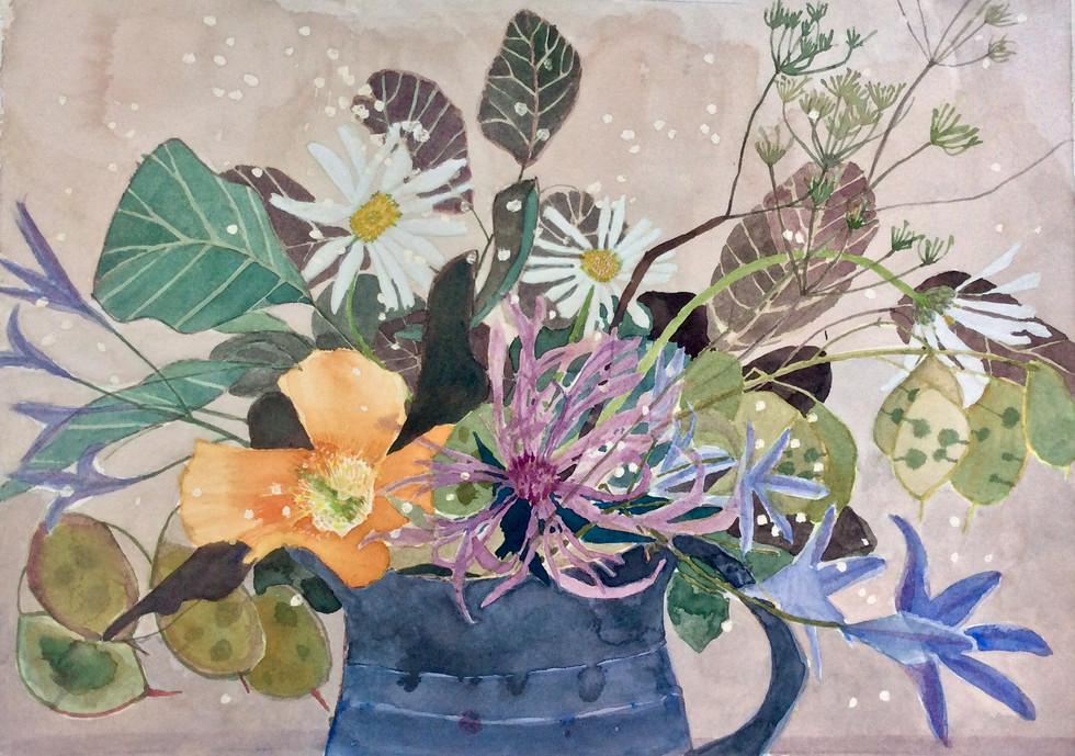Wild Flowers with Poppy (Sold)