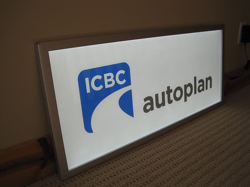 """LED Snap Frame 16"""" x 36"""" with ICBC print"""