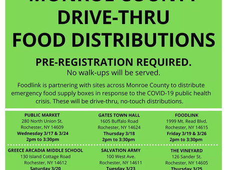 Drive-Thru Food Distribution Information